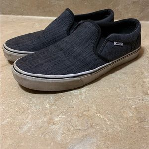 Mens 11.5 Vans Classic Slip On Shoes Dark Grey